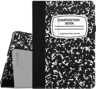 Fintie iPad 9.7 2018/2017, iPad Air 2, iPad Air Case - [Corner Protection] Premium Vegan Leather Folio Stand Cover, Auto Wake/Sleep for iPad 6th / 5th Gen, iPad Air 1/2, Composition Book Black