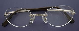 Nisstiiv 925 Sterling Silver Stripes Rimless Eye Glasses Rare and Unusual Spectacle Frame Eyeglasses