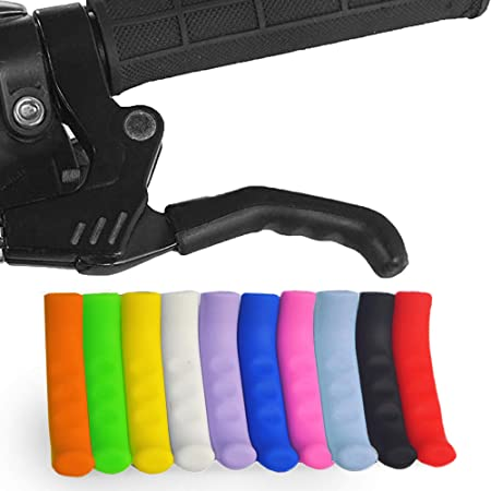 Waterproof Anti-Slip Grips Bicycle Brake Grips Covers Brake Handle Protective Sleeve Cycling Accessory for Most Bikes Brake Lever Grip Silicone Sleeve 1 Pair Bike Brake Lever Protector