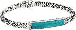 Classic Chain Diamond Pave Bracelet with Turquoise