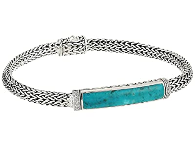 John Hardy Classic Chain Diamond Pave Bracelet with Turquoise (Silver) Bracelet