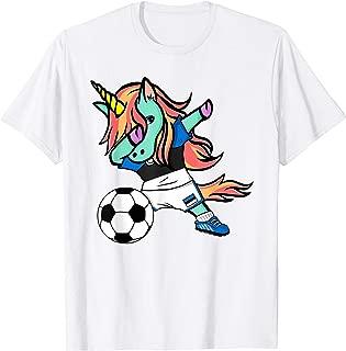Unicorn Dab Estonia Soccer Jersey Estonian Football T Shirt