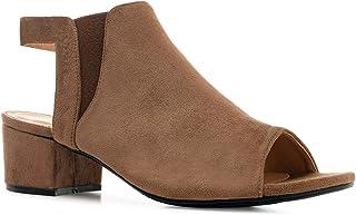 Andres Machado Sandalen/sandalen met hak voor dames, meisjes en jongens vrouwen AM5496 – blokhak en elastisch inzetstuk – ...