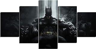 Batman Superhéros Art Toile Posters Décoration de Maison Cadre Art Mural 5 Pièces Tableaux pour Salon Impression HD Photos...