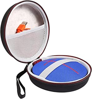 Faylapa Carry Portable Travel Zipper for UE Roll 2/UE ROLL Volcano Wireless Portable Bluetooth Speaker, Protective EVA Hard Case Cover Bag Box,Fits USB Cable(Case Only,Black)