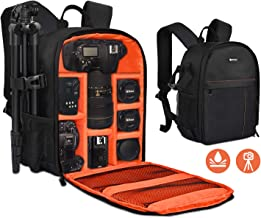 Yesker Camera Backpack Professional DSLR/SLR Camera Bag Waterproof Shockproof, Camera Case Compatible for Sony Canon Nikon Camera and Lens Tripod Accessories for Photographer… (Small, Orange)