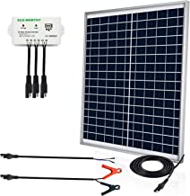 ECO-Worthy [Upgraded] 25 Watts 12V Off Grid Solar Panel SAE Connector Kit: Waterproof 25W Solar Panel + SAE Connection Cable +USB Controller for Light