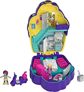 Polly Pocket Pocket World Cupcake Compact with Surprise Reveals Micro Dolls and Accessories [Amazon Exclusive]