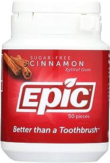 Epic Dental Cinnamon Gum - Xylitol Sweetened - 50 Count - Gluten Free - Wheat Free - Vegan