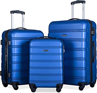 Travelhouse Luggage Set 3 Piece Expandable Lightweight Spinner Suitcase (Blue.)