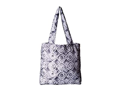 Haiku Bloom (Geo Wash Print) Tote Handbags