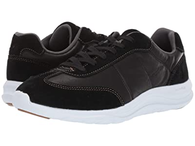 Hush Puppies Cassidy Sneaker (Black Suede/Leather/Dark Os) Women