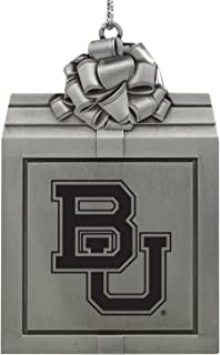 Baylor University -Pewter Christmas Holiday Present Ornament-Silver