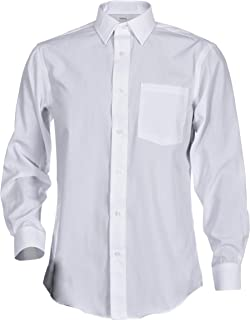 George Men's Classic Fit Long Sleeve Poplin Solid Button-Up Dress Shirts