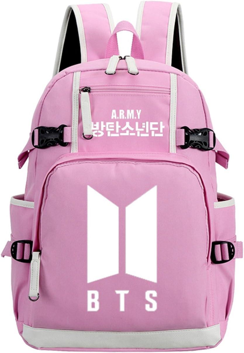 JUSTGOGO Luminous Max 76% OFF Fort Worth Mall Korean Casual Backpack Coll Daypack Bag Laptop