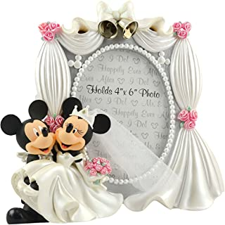 Disney Parks Exclusive Mickey Minnie Mouse Bride Groom Wedding 4x6 Photo Frame