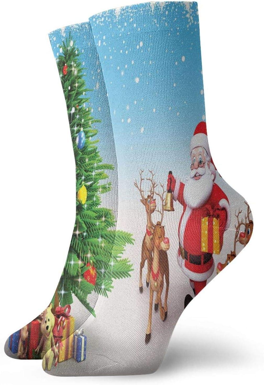 Men's Cotton Crew New sales Athletic Socks Reindeer with Gath Regular discount Bells Jingle