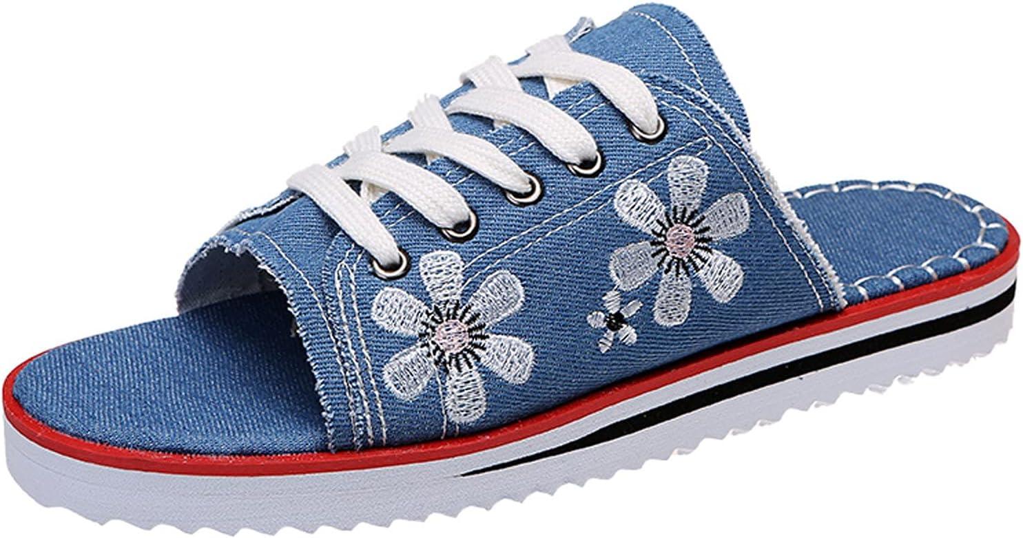 iCODOD Women's Summer Beach Peep Sneaker service Sli Kansas City Mall Sandals Lace-Up Toe