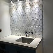 Grifo del ba/ño Mango /único extendido Grifo mezclador de lavabo Vanity Basin con montaje en cubierta de agua fr/ía y caliente Cascada de n/íquel cepillado,HighSection