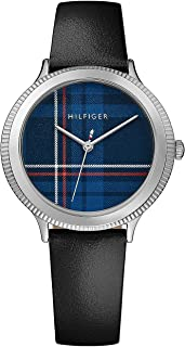 Tommy Hilfiger Womens Quartz Watch, Analog Display and Leather Strap 1781857