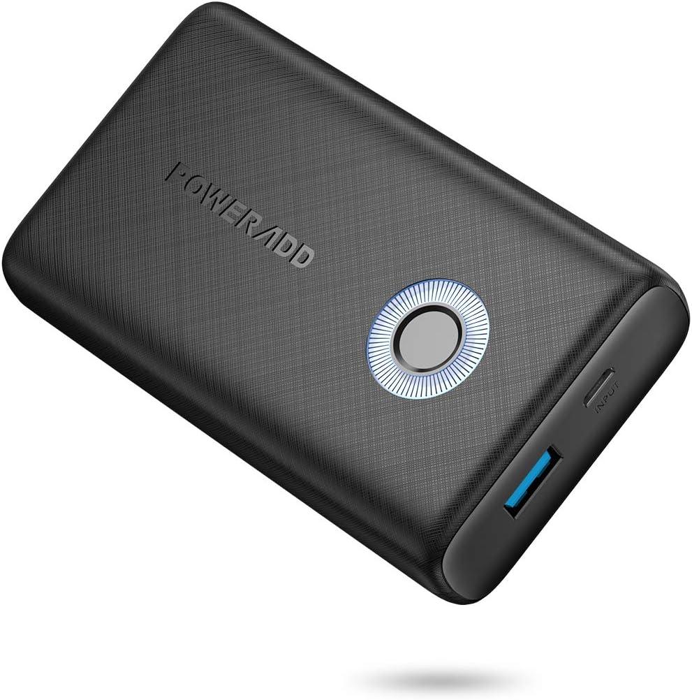 Batería externa EnergyCell 10000 mAh QC 18 W, batería externa Quick Charge 3.0, cargador portátil para iPhone, Samsung, Huawei, tabletas, Nintendo Switch y más smartphones