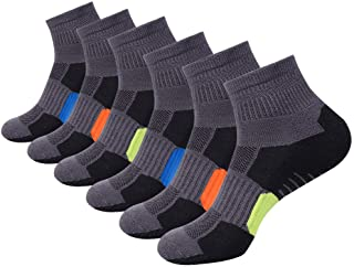 Mens Ankle Athletic Socks Quarter Cushioned Sports Running Casual Sock 6 Pack