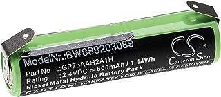 vhbw Batterij vervanging voor Omron GP75AAH2A1H voor elektrische tandenborstel (600mAh, 2.4V, NiMH)