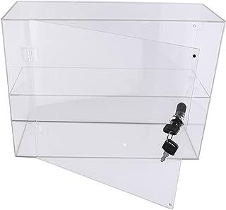 PC3721® 1 Vitrina de acrílico Transparente de Alto Brillo con 1 Estante y una Puerta Frontal con Bloqueo de Seguridad DB198C-06HZ