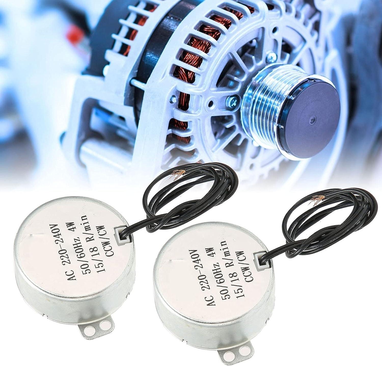 2Pcs AC Motor Max 76% OFF 15‑18RPM Outlet SALE 4W Direction CCW Ele Synchronous CW
