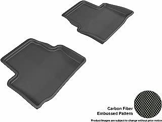 3D MAXpider Second Row Custom Fit All-Weather Floor Mat for Select Cadillac ATS Models - Kagu Rubber (Black)