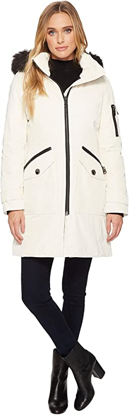 Calvin Klein - Parka with Detachable Fur Trimmed Hood