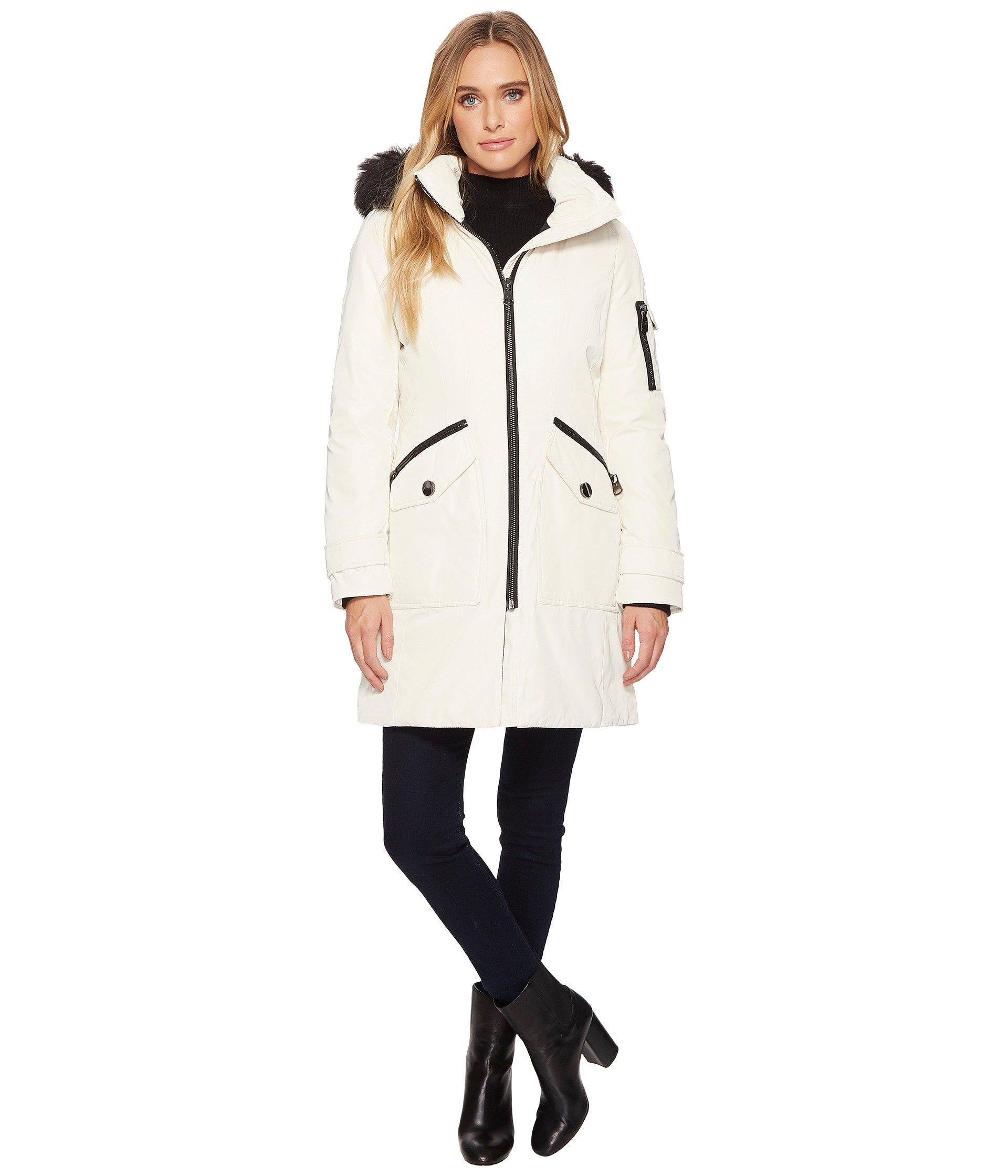 Parka with Detachable Fur Trimmed Hood