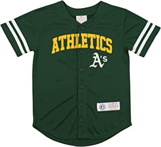 11e792c2 Outerstuff MLB Youth Oakland Athletic Button up Jersey