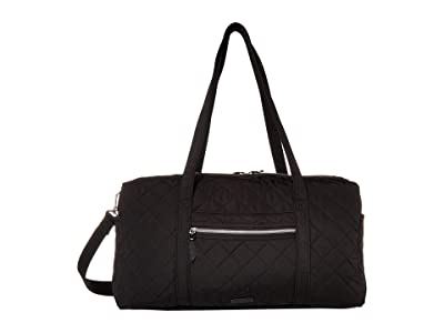 Vera Bradley Iconic Performance Twill Medium Travel Duffel (Black) Duffel Bags