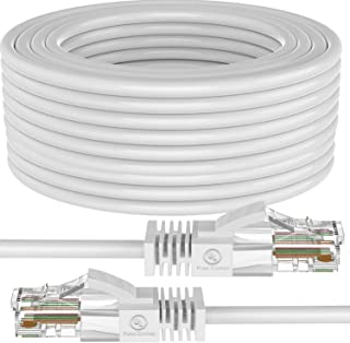 Cat 6 Ethernet Cable, 200 ft (61 Meters) Maximm Cat6 Cables White - Snagless Internet Cable Pure Copper Computer Network P...