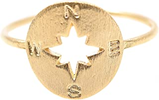 chelseachicNYC Never Lost Handcrafted Brush Metal Compass Ring