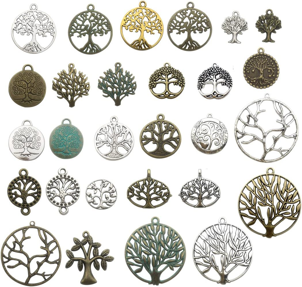 100g Craft Supplies Mixed Tree Max 80% OFF Of Life Pendants Beads Pen Charms Complete Free Shipping