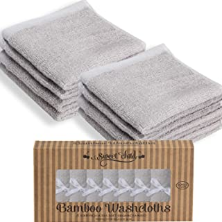 SWEET CHILD Bamboo Baby Washcloths (Bonus 8-Pack) – Premium Extra Soft
