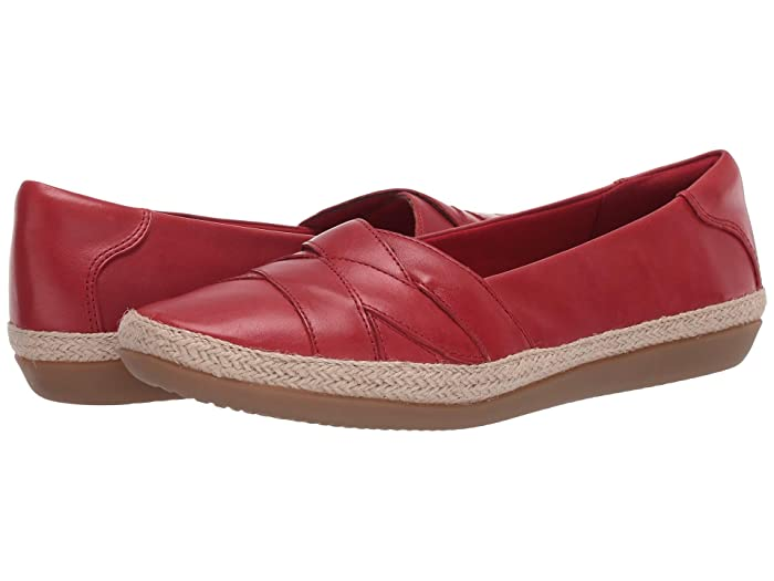Clarks  Danelly Shine (Red Leather) Womens Shoes