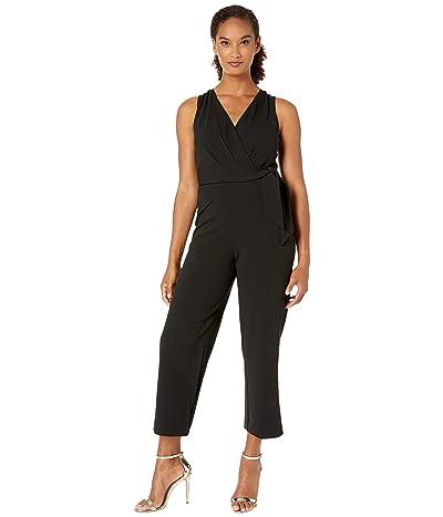LAUREN Ralph Lauren Luxe Tech Crepe Penney Jumpsuit (Black) Women