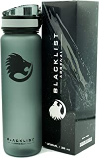 Blacklist Arsenal Sports Water Bottle - 32 oz / 1000 ml - Spill Proof - Flip Lid With One Click Of The Release Button - BP...