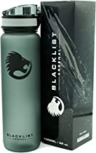 Blacklist Arsenal Sports Water Bottle - 32 oz / 1000 ml - Spill Proof - Flip Lid with One Click of The Release Button - BPA Free - Tritan Plastic