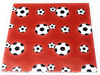 Soccer Themed Red Gift Wrap - 20
