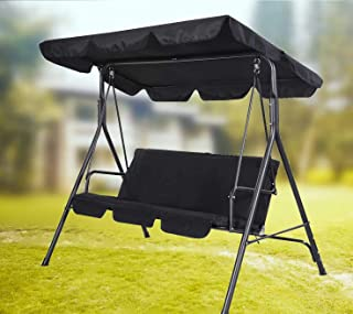 skyfiree Outdoor Swing Canopy Replacement Top Cover 75x52 inches 3 Seater Waterproof 600D Polyester Replacement Canopy UV ...