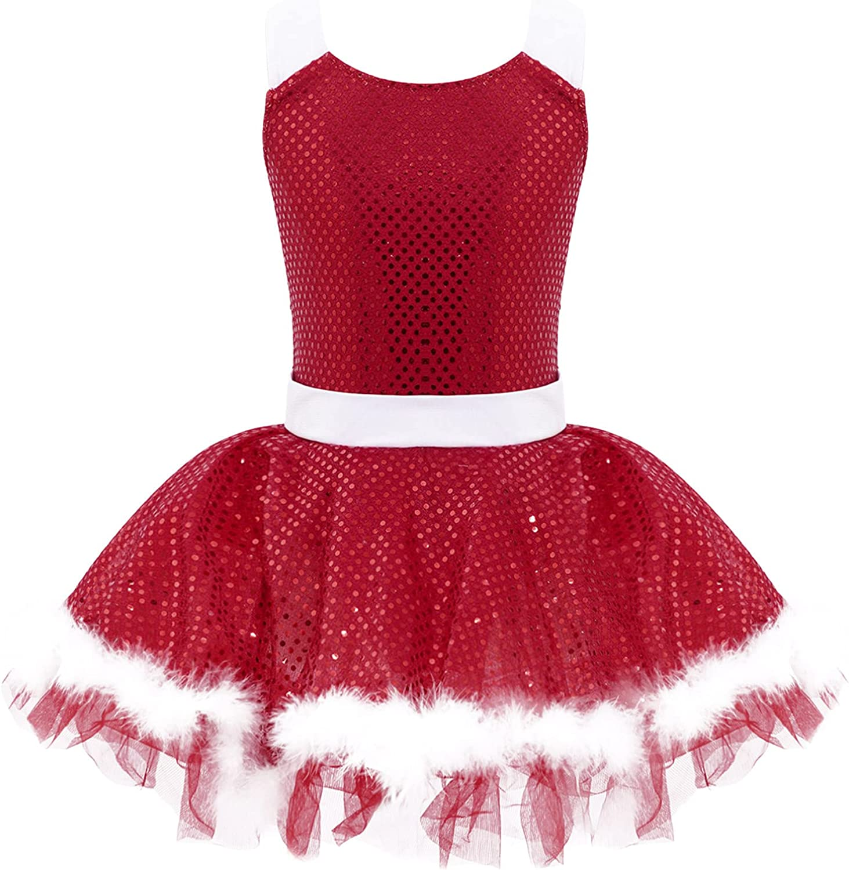 Manyakai Kids Girls Sleeveless Sequins Overseas parallel import regular item Leotard Dress Raleigh Mall Figure Tutu