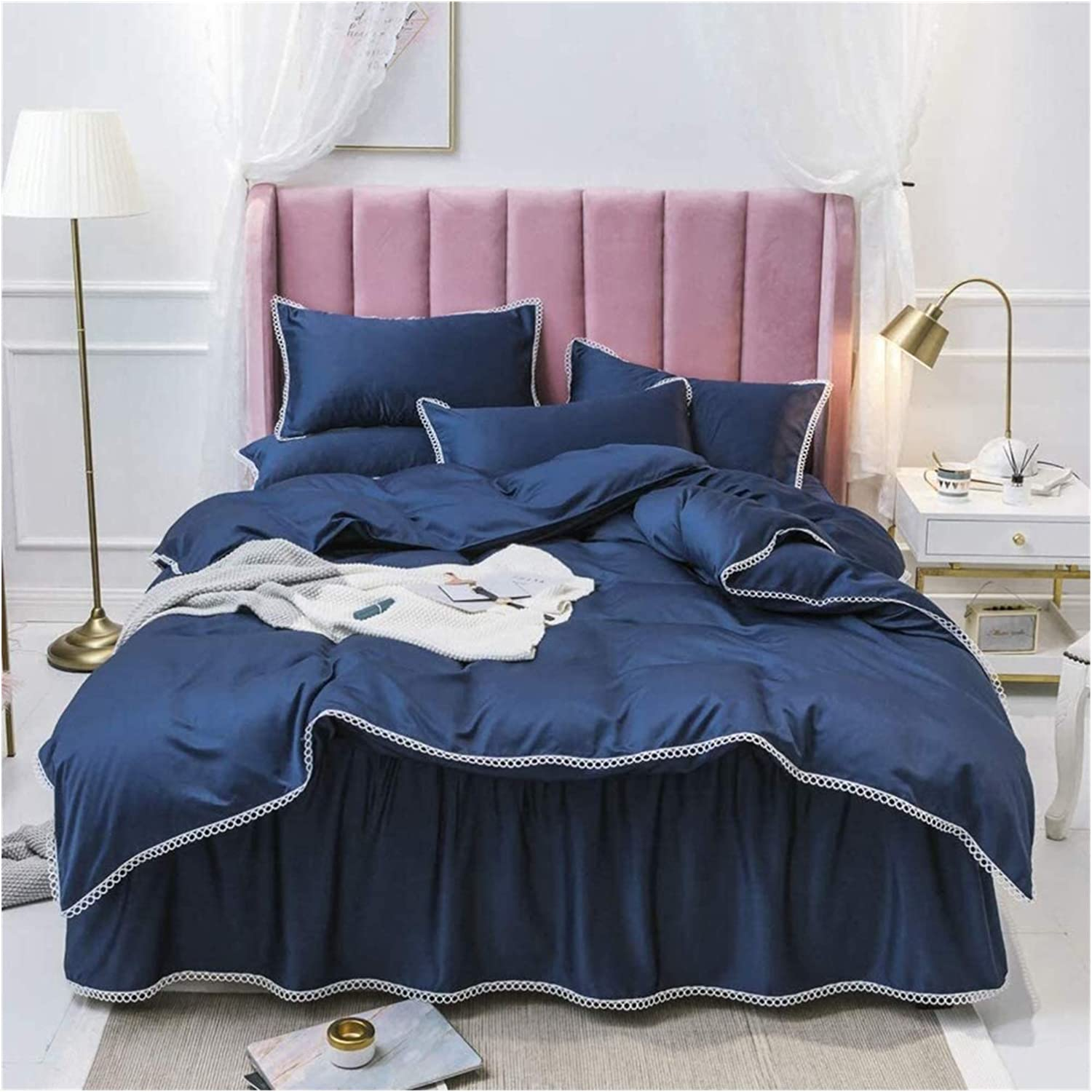 Luxurious Max Factory outlet 82% OFF Soft Four-Piece Bed Sheet Silk Washed Set Pillowcase