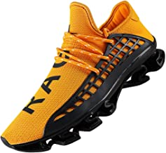DUORO Men's Running Shoes Women's Casual Sneakers Breathable Mesh Slip on Blade Athletic Lightweight Tennis Sports Shoe for Men