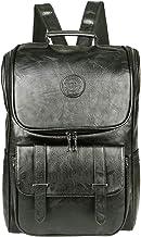 Vintage Leather Backpack, Slim Laptop Backpack Travel Waterproof Pack College School Bookbag Weekend Daypack Bag for Men W...
