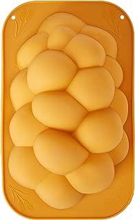 Silicone Braided Challah Pan - Perfect Challah Bread Braid Baking Mold, No Shaping Required - Medium