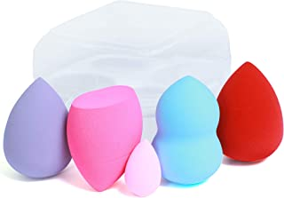 Beauty Blender Complexion Sponge Multi-Coloured - pack of 5 (4 Blending and one mini Sponge) is best for Highlighters, Pow...